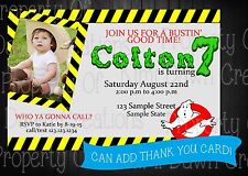 Ghost Busters Birthday DIGITIAL DELIVERY Invitation