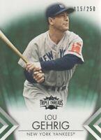2012 Topps Triple Threads Baseball Emerald #37 Lou Gehrig /250