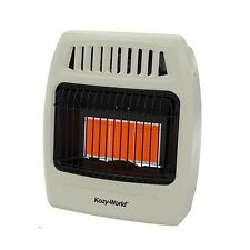 Kozy World 18,000 BTU Plaque Infrared Natural Gas Wall Heater