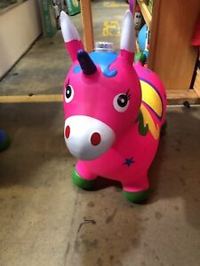 Unicorn Pink Bouncy Jumping Horse Hopper Toys for Kids Nuevo Envío Rapido