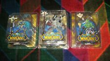 WOW-World of Warcraft-Sota Toys - 3 Large Figure Set - Shaman, Warlock & Priest