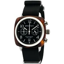Briston Clubmaster Classic Acetate Silver Chronograph 40mm Black Nylon Watch