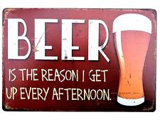 BEER AFTERNOON  METAL TIN SIGNS vintage cafe pub garage decor retro kitchen