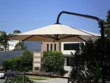 Umbrella 5 metre  Large Outdoor Cantilever cappuccino  super shade umbrellas