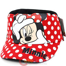 Disney Minnie Mouse Red Bow Military Cap Kids Adjustable Hat : Photo Time