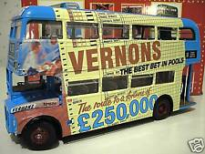 ROUTEMASTER RM 686 VERNONS POOLS bleu BUS au 1/24 SUNSTAR 2905 voiture miniature
