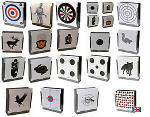 Large Selection of Packs of 100 14cm x 14cm 100gsm Targets ( Air Rifle Shooting