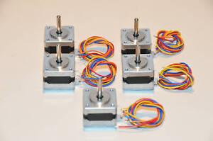 6 pack Minebea / NMB 14PM-M206-09V 1.8° Hybrid Stepper Motors  New!  $40