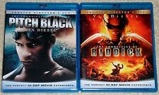 Action Blu-ray Disc Lot - The Chronicles of Riddick (Used) Pitch Black (Used)