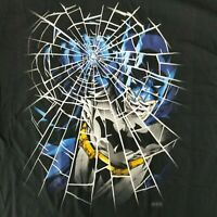 Batman Men's L T-Shirt Punching Breaking Glass Licensed DC Comics Comic Book