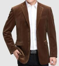 Mens Jackets Corduroy Coats Dad's Two Button Casual Blazers Spring Outwear