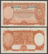 Australia 10 Shillings 1942 (VF) Condition Banknote P-25b KGVI