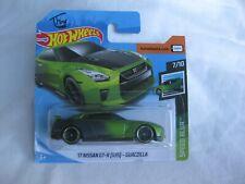 Hot Wheels 2019 Speed Blur '17 Nissan GT-R (R35) Guaczilla Mint In Short Card