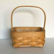 Longaberger 2003 Warm Brown Tarragon Square Booking Basket w/Handle Protector