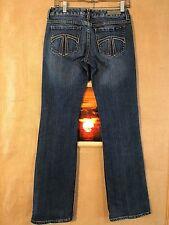 "Seven 7 Jeans size 28 waist 28"" rise 7.5"" inseam 32"" boot cut zipper fly stretch"