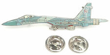 SU-27 Flanker Side View Enamel Lapel Pin Badge
