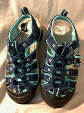 Women's KEEN Newport H2 Sport Sandals Sz 8.5 Teal Navy Water Shoes Waterproof