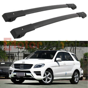 US Stock Black Cross Bar For Mercedes Benz ML GLE 2013-2019 Roof Rack Rail