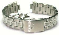 SEIKO 5 DIVERS SOLID STAINLESS STEEL BRACELET 18MM CURVED ENDS LOCKING CLASP NEW