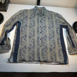 REPLAY JEANS THICK HEAVY DESIGNER BUTTON UP SHIRT Mens XXL