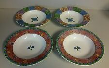 Set of 4 Sweet Shoppe Cereal/Soup Bowls 2-Pecan Pie 3023-2 Cranberry Twirl 3025
