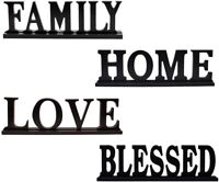Decorative Wooden Cutout Word FAMILY/HOME/ LOVE/ BLESSED Sign for Home Decor
