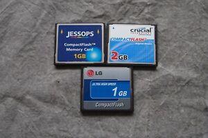 Job Lot of 3x Compactflash CF Cards