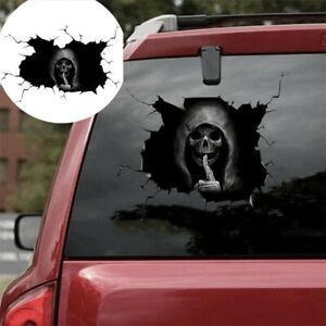 Happy Halloween Silent Skull Sticker Window Home Decoration Decal Decor 2Size US