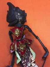 Vintage Wayang Doll Indonesian Wood Puppet Golek Asian Javanese Carved Asian Art