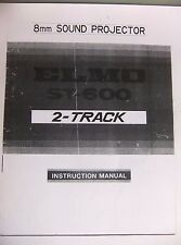 Instructions cine projecteur elmo st 600 2 track super 8-cd/e-mail