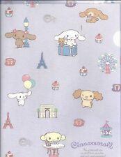 Sanrio Cinnamoroll Folder Portfolio Side Open Plastic Purple Paris