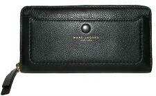 MARC JACOBS Black Leather Zip-Around Clutch Wallet  NWT