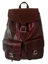 Echt Leder Rucksack Schultertasche Ledertasche Handtasche Backpack Leder Beutel