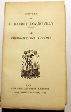 BARBEY D'AUREVILLY/UNE HISTOIRE SANS NOM/ED LEMERRE/VERS 1923/DANDY/NORMANDIE