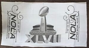 Baltimore Ravens Vs 49ers NFL Harbaugh Super Bowl XLVII Trophy 30x57 Towel