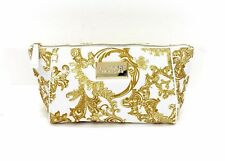 VERSACE GOLD WHITE LADIES TOILETRY BAG TRAVEL VANITY MAKE UP CASE CHRISTMAS GIFT