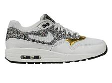 WMNS Nike Air Max 1 SE Grey Gold Women Running Shoes SNEAKERS Trainer 881101-100 7.5