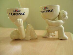Pack 2 BOXED Limited Edition Vintage Lurpak Douglas Egg Cups Excellent condition