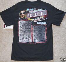 Tony Stewart T Shirt NASCAR Lg 2013 Race Schedule New Sprint Cup Series Mobil