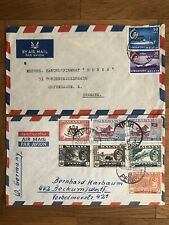 2 X SINGAPORE MALAYA OLD COVER MALAYSIA SINGAPORE TO DENMARK GERMANY 1964 !!