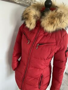 fox fur hooded coat