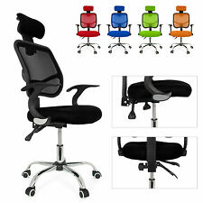 Seat Height Adjustment Office Computer Desk Chair Chrome Mesh Seat Tilt Control