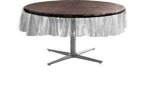 ROUND Multipurpose Vinyl Clear Heavy Duty Transparent Tablecloth Protector