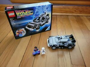 Lego 21103 CUUSOO Back to the Future Delorean opened complete set slightly used