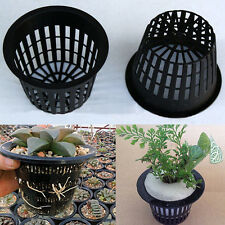 Plastic Mesh Pot Net Cup Basket Cultivation Hydroponic Flower Plant Home Supply