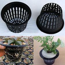 Hydroponic Mesh Plastic Pot Net Cup Basket Aeroponic Garden Plant Grow Filter