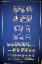 "Vintage Wagon Train 20 Mule Team Borax 1883 Blueprint Plan 18"" x 28"" (262)"