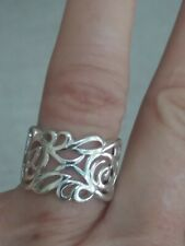 🌼STERLING SILVER 925 CONTEMPARY FLOWER DESIGN RING~ SZ7s