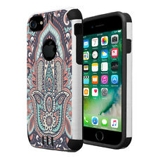 Hybrid Dual Layer Silm Armor Combat Case for Apple iPhone 7 / 6S / 6 - Hamsa