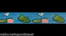 """Ranas & Libélulas"" Wallpaper FRONTERA (17.1cm X 4.57m) de Donna Dewberry"